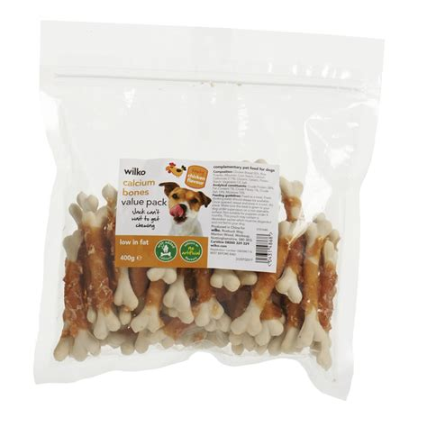 chicken bones for dogs wilko treats chicken calcium bones value pack 400g at wilko