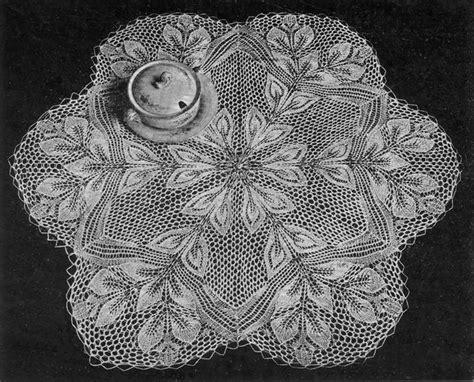 doily knitting patterns hojas leaves doilyhead s