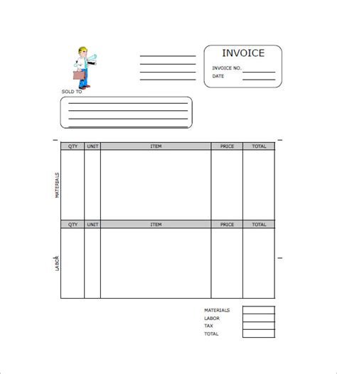 construction company invoice template construction invoice templates 15 free word excel pdf