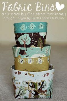 15 easy sewing projects for beginners fabric bins on pinterest