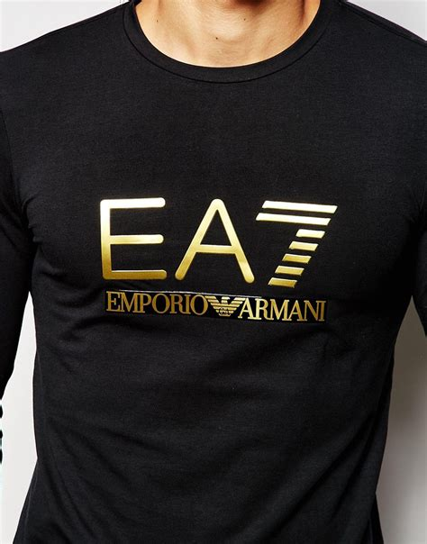 Armani T Shirt ea7 emporio armani t shirt in fit with foil logo