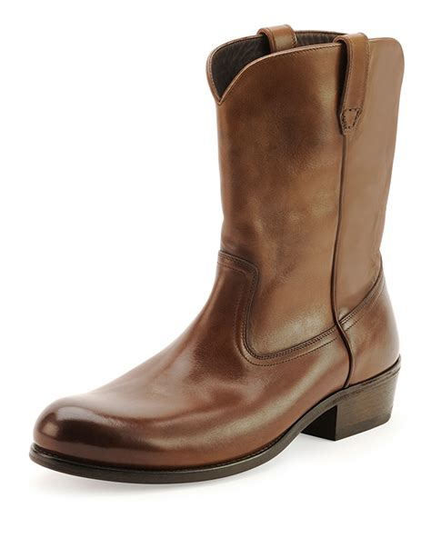tom ford boots for tom ford christopher leather cowboy boot in brown for