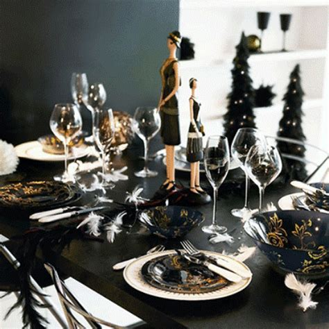 Black And Gold Table Decorations by 36 Black And Gold D 233 Cor Ideas