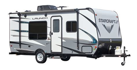 be my trailer launch outfitter 7 large travel trailer starcraft rv