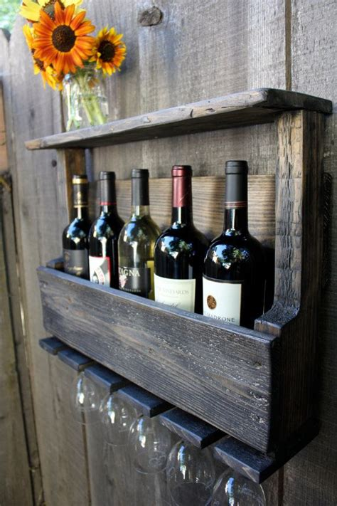 Does Wine A Shelf by Reclaimed Wood Rustic Wine Rack Glass Holder With Shelf In