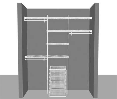 Closetmaid Superslide Closet Organizer Reach In Closet Superslide Package 4