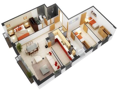 planos 3d planos 3d de plantas de casas modernas 3 cuartos fotos