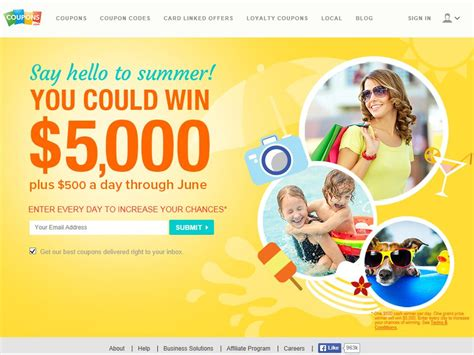 2014 Cash Sweepstakes - coupons com s june cash sweepstakes