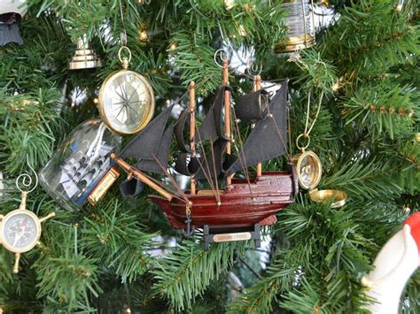 oak island christmas ornament wholesale wooden s model ship tree ornament hton nautical