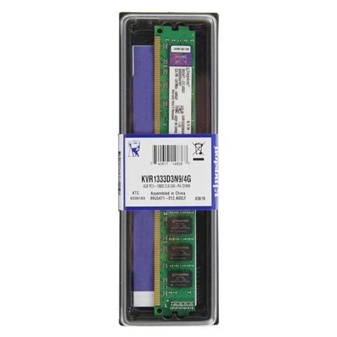 Memory Ddr3 4gb Pc10600 memoria ram kingston 4gb ddr3 1333mhz pc10600 tienda electronica herramientas