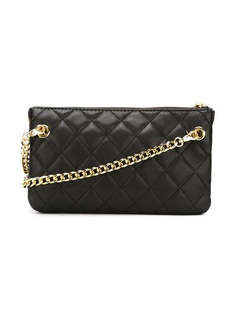 Moschino Quilted Crossbody Bag by Moschino Black Quilted Crossbody Bag Lyst
