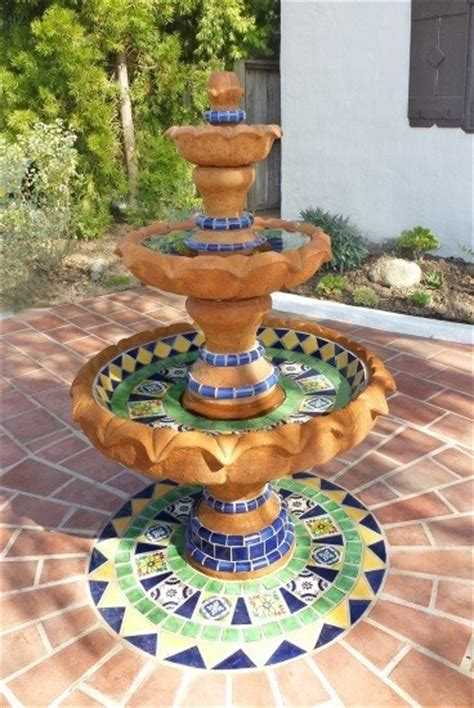 yard decor  beauty   mexican water fountain sol
