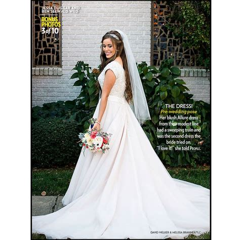 ben seewald and jessa duggar wedding jessa seewald s wedding dress this was only the second