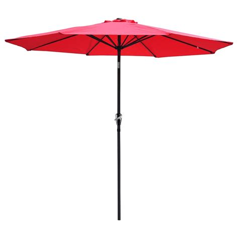 Waterproof Patio Umbrella 9 Ft Aluminum Outdoor Patio Umbrella Market Yard W Crank Tilt 4 Color Ebay