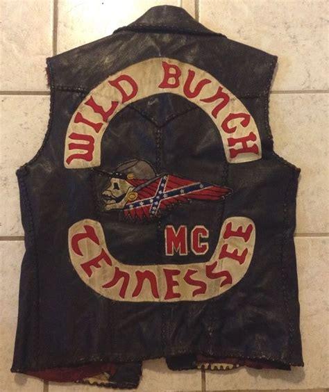 Motorradclub Color by Vintage Outlaw Biker Club Vest 1 Er Club Colors Club Cut
