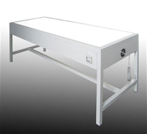 tavolo illuminato articolo etm039 tavolo da lavoro in metallo professionale