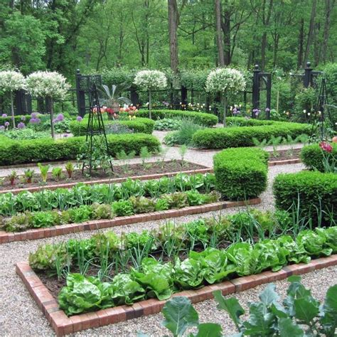 A Kitchen Garden Or A Potager Is A French Style Ornamental Vegetable Garden Design