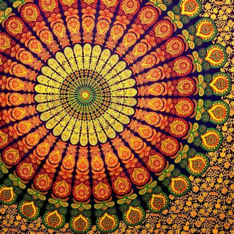 indian block print wallpaper wall decor hippie tapestries mandala tapestries queen boho