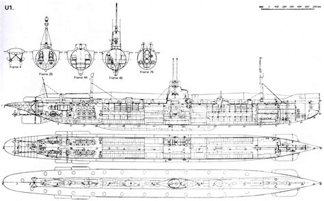 One U Sketches by Submarine Plans