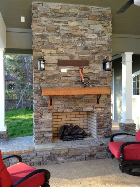 fireplaces using real thin veneer traditional