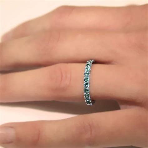 070 carats alexandrite june birthstone wedding band 14k