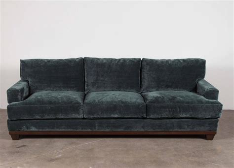 Teal Velvet Sofa by Teal Velvet Sofa At 1stdibs