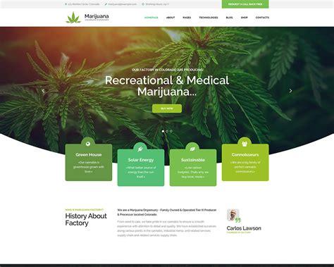 Marijuana Dispensary Wordpress Theme Modern Web Templates Marijuana Website Templates