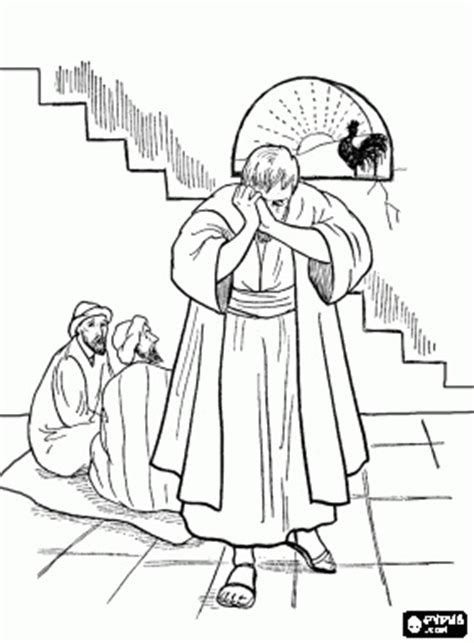 coloring page jesus arrested 17 best images about bible on rooster