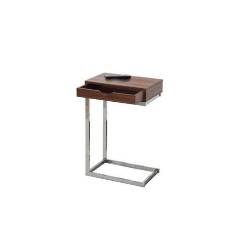 metal side tables for living room metal side table with drawer in walnut i 3070