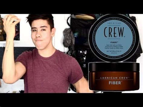 american style fiber american crew fiber men s hair product tutorial