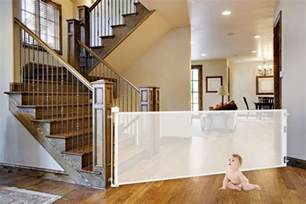 Wide Stair Gates by Smart Retract Retract A Gate Retractable Safety Gate For