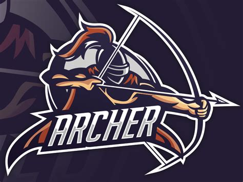 Quot Archer Quot Esports Mascot By Mike Dribbble Esport Logo Template