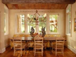 country breakfast nook