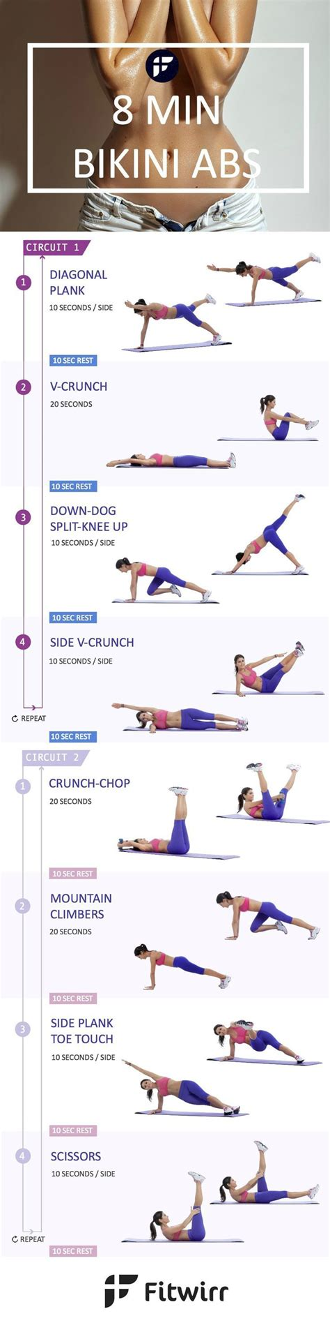 quick  minute abs workout  women  health