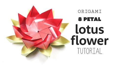 How To Make A Lotus Flower Out Of Paper - origami 8 petal modular lotus flower diy paper kawaii