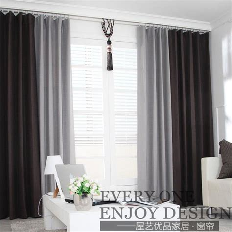 country curtains ls ls cl112 linen thickening stitching curtains stylish