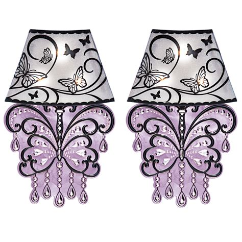 lighted collections lighted butterfly chandelier wall set of 2 by