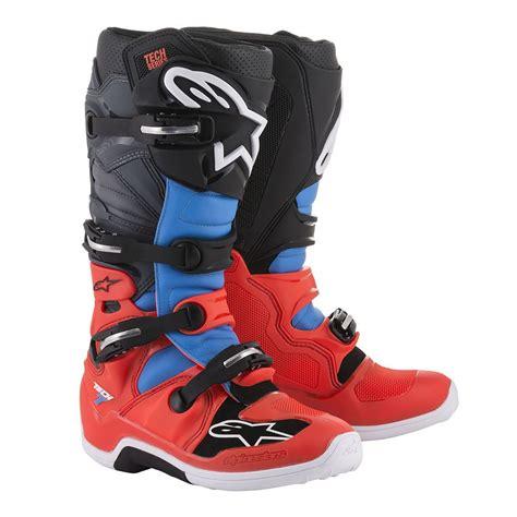 alpinestars tech 6 motocross boots alpinestars tech 7 boots red cyan grey black sixstar racing