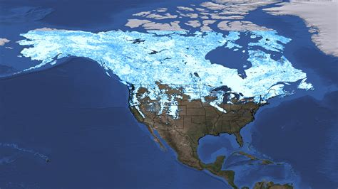 svs north america snow cover maps