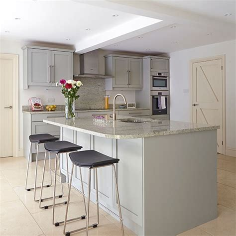 kitchen breakfast bar grey kitchen with breakfast bar decorating housetohome