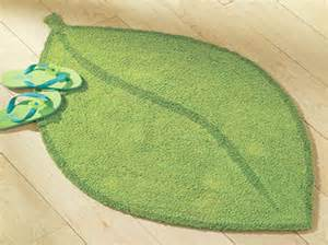 Fish Bath Mats Rugs Home Accessories Tropical Bath Rugs With Leaf Shape