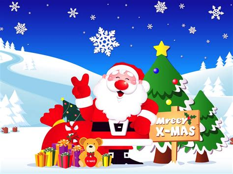 christmas themes cartoon animated christmas clipart on seasonchristmas com merry