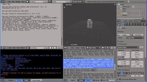 tutorial python blender blender 2 5 tutorial writing a python script that
