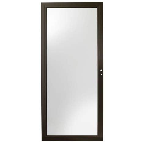 door 3000 series with low e glass emco 36 in x 80 in 200 series bronze self storing
