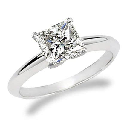 1 carat princess cut solitaire engagement ring 18k