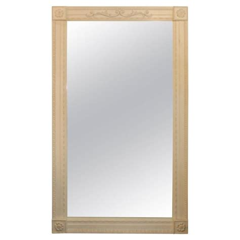 italian white washed large mirror for sale at 1stdibs
