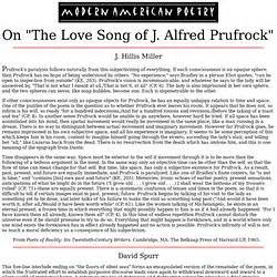 The Lovesong Of J Alfred Prufrock Essay by T S Eliot The Song Of J Alfred Prufrock Essay Articlegrammar X Fc2
