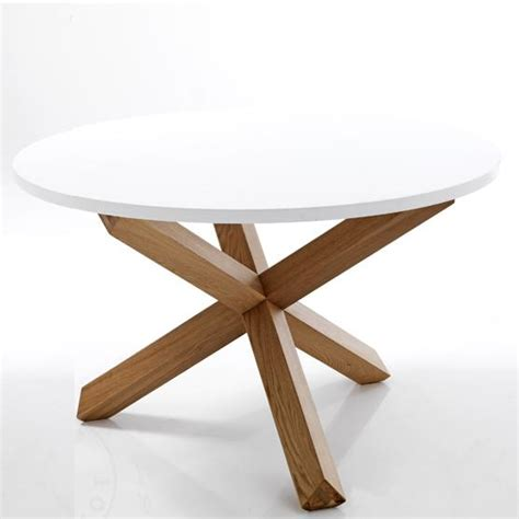 tavolo rotondo legno tavolo rotondo con ze incrociate in legno