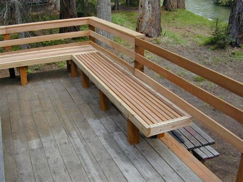build a deck bench 25 best ideas about deck benches on pinterest deck