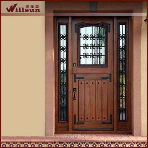 Reconditioned Front Doors by Wrought Iron Glass Insert Used Exterior Doors For Sale